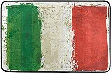 Malplena Fußmatte mit italienischer Flagge für