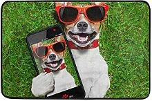 MALPLENA Fußmatte mit lustigem Selfie-Hund, für