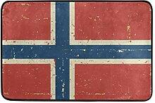 Malplena Fußmatte mit Norwegen-Flagge,