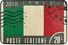 MALPLENA Italienische Flagge Stempel Fußmatten