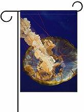 MALPLENA Jellyfish Muster Flagge Garten Premium