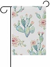 MALPLENA Kaktus Blumen Flagge Garten Premium