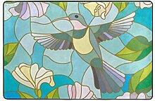 MALPLENA Kolibri-Blumen-Muster Eingangsbereich