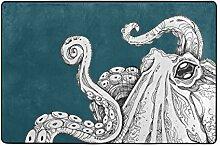 MALPLENA Malpela Art Sea Octopus Teppiche für