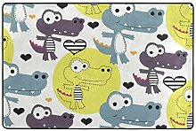 MALPLENA Malpela Baby Krokodil-Teppich für