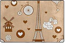 MALPLENA Malpela Eiffelturm-Reiseteppich für