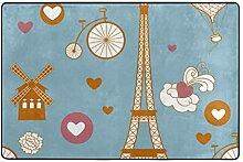 MALPLENA Malpela Eiffelturm-Teppiche für