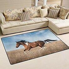 MALPLENA Malpela Fußmatte/Fußmatte, Motiv Pferd,