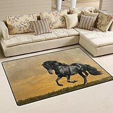 MALPLENA Malpela Fußmatte mit Pferdemotiv für