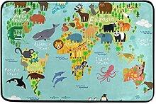 MALPLENA Malpela Fußmatte mit Sieben Kontinenten