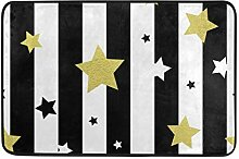 MALPLENA Malpela Fußmatte mit Sternen, nahtlos,