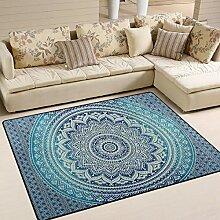 MALPLENA Malpela Mandala-Teppich Anti-Rutsch-Pad