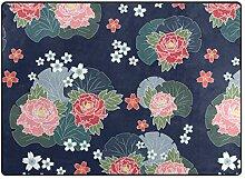 MALPLENA Malpela Teppich mit Blütenmuster,