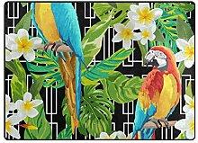 MALPLENA Malpela Teppich mit Blumen und Papageien