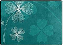 MALPLENA Malpela Teppich mit Blumenmuster,