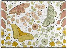 MALPLENA Malpela Teppich mit Schmetterlingen und