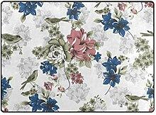 MALPLENA Malpela Teppich mit Vogel-Blumenmuster,