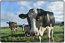 MALPLENA Malplee Kuh-Teppich für Wohnzimmer,