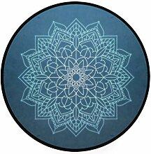 MALPLENA Malplee Mandala-Teppich, rund,