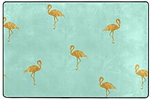 MALPLENA Malplee Mint Gold Flamigo Teppich für