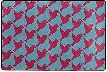 MALPLENA Malplee Teppich, Motiv Vögel, für