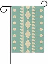 MALPLENA Malpley Garten-Flagge, mit geometrischer