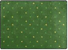 MALPLENA Malpley Teppich/Fußmatte mit Kleeblatt,