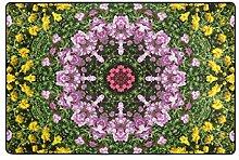 MALPLENA Mandala-Blumen-Muster Eingangsbereich