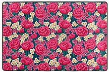 MALPLENA Rosarote Rosen-Beschaffenheits-Muster