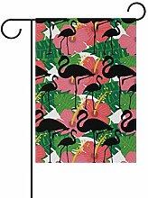 MALPLENA Schwarze Flamingos Flagge Garten Premium