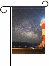 MALPLENA Sky Stars Sea Lighthouse Fahne Garten