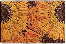 MALPLENA Sonnenblumen-Muster Eingangsbereich