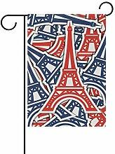 MALPLENA Tour Eiffelflagge Garten Premium