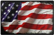 MALPLENA USA Flagge Eintrag Way Fußmatte