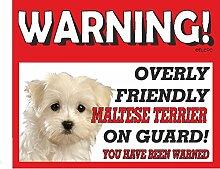 Malteser Terrier Guard Dog Metall Schild 167