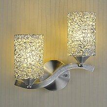 MAM-BIDENG Moderne minimalistische Wand Lampe Aluminium Wohnzimmer/Schlafzimmer/Flur 2 Licht Beleuchtung