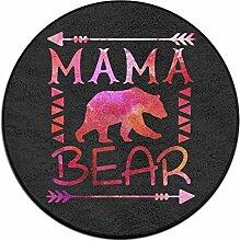 Mama Bär, rund Boden Teppich Fußmatten für Home Decorator Esszimmer Schlafzimmer Küche Badezimmer Balkon