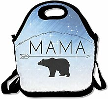 MAMA Bear Convenient Lunch Box Tote Bag Rugged