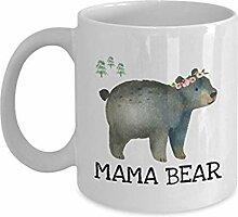 Mama Bear Kaffeetasse, süße Babyparty,