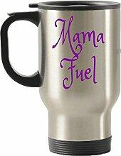 Mama Kraftstoff Reise Isolierte Becher