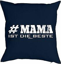 Mama-Spaß-Kissenbezug ohne Füllung: #Mama ist