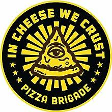 MAMA STICKER Bumper Vinyl Circle in Cheese WE