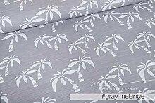 Mamasliebchen Jersey-Stoff Hawaii #Gray- Melange