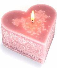 Mamatura Edle Herzkerze | Kerze in Herzform |