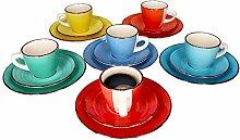 MamboCat 18-TLG. Kaffeeservice Colour Power -
