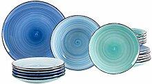 MamboCat 18tlg. Teller-Set Blue Baita | edles