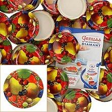 MamboCat 50er Deckelset TO82 Obst Gelbe Birne I