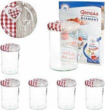 MamboCat 6er 435 ml Sturzglas-Set   Einmachgläser