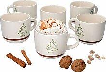 MamboCat 6er Set Kaffeebecher Weihnachtsbaum I 300