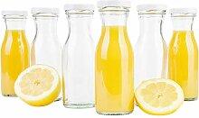 MamboCat 6er Set Saftflasche 150 ml + Twist-Off